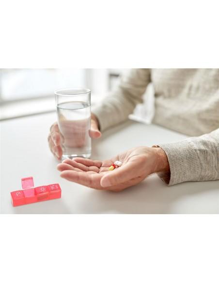 Pilulier 7 jours couleur avec étui Fysic