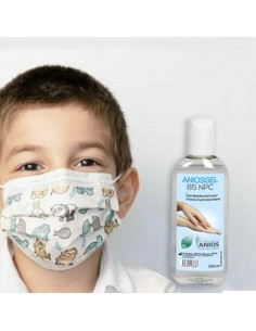 Kit rentrée des classes, 10 masques enfant + 100ml Gel hydroalcoolique