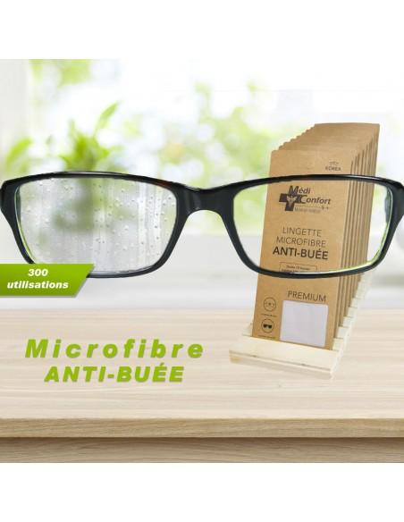 Lingette microfibre anti-buée
