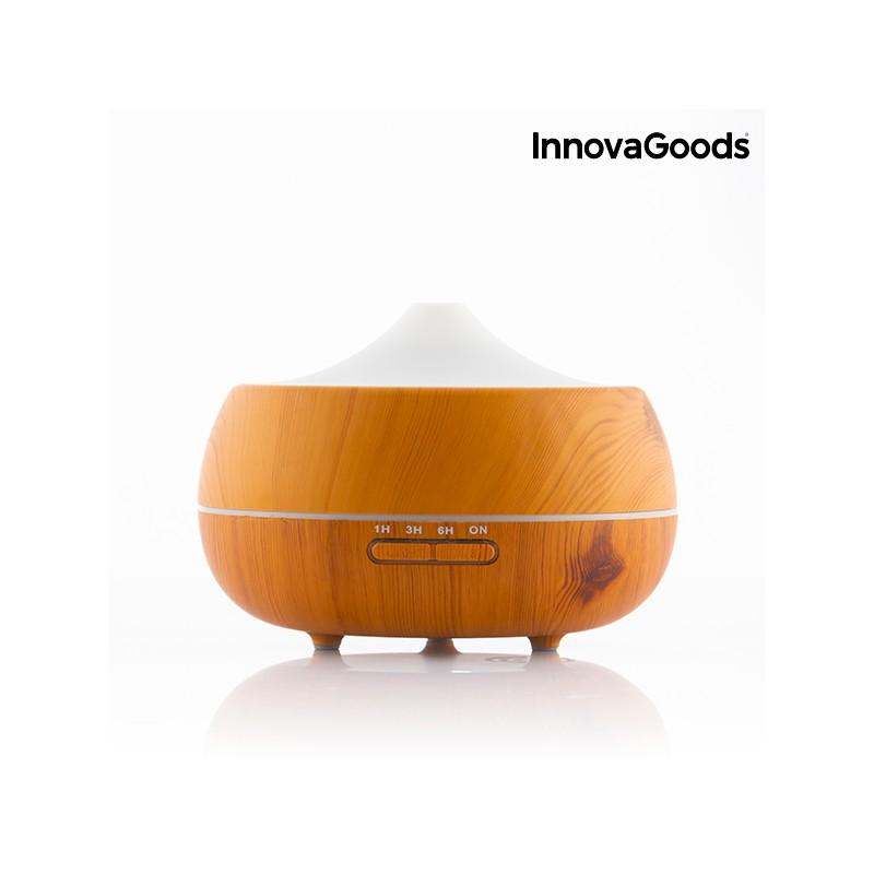 Brumisateur / diffuseur LED décor bois