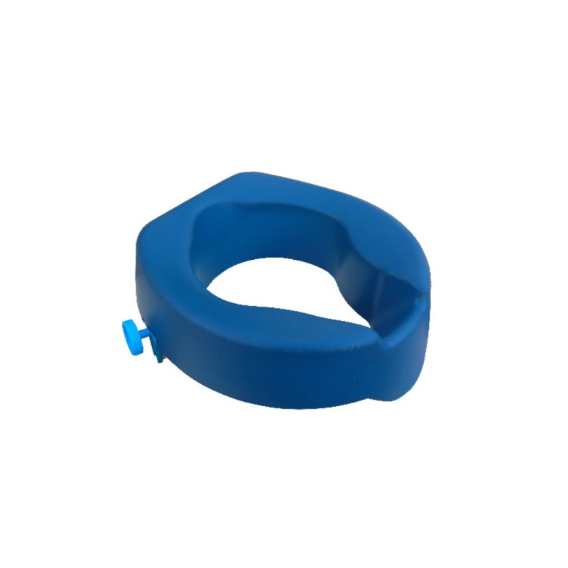 Réhausse wc mousse PU 10 cm bleu