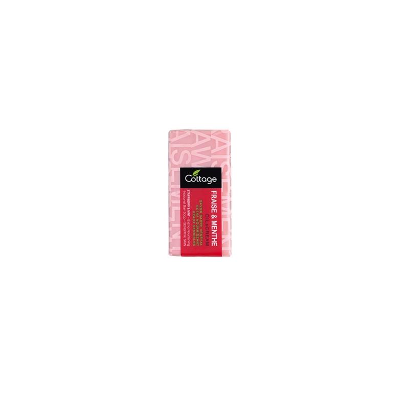 COTTAGE savon brique fraise/menthe 150gr